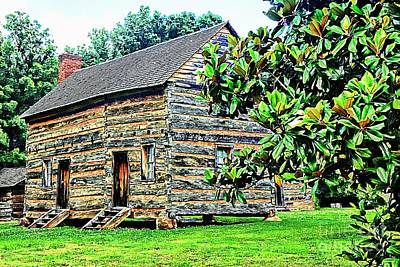 Mixed Media - James K. Polk Boyhood Home by Bob Pardue
