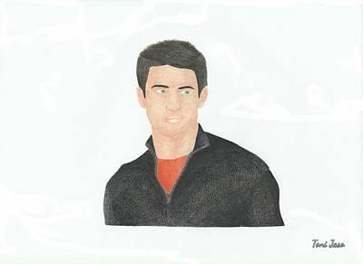 James Lafferty Art Print by Toni Jaso