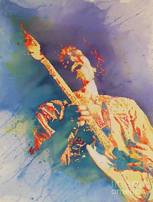 Fender Strat Painting - James Marshall by Robert Nipper