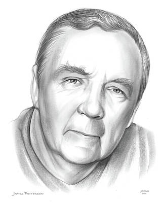 Drawing - James Patterson by Greg Joens