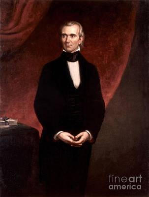 Presidential Painting - James Polk  Presidential Portrait by Celestial Images
