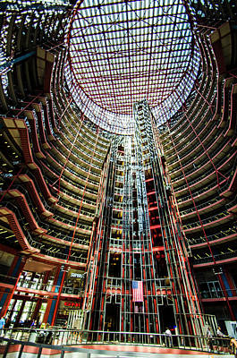 Photograph - James R Thompson Center Interior Chicago by Deborah Smolinske