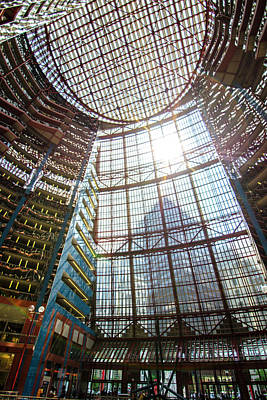 Photograph - James R Thompson Center Interior II Chicago by Deborah Smolinske