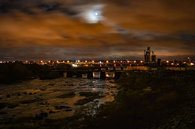 Photograph - James River At Night by Aaron Dishner