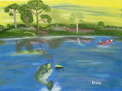James River Bass Art Print by Edwin Long