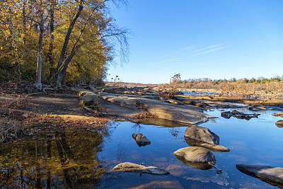 Photograph - James River Fall by Alan Raasch