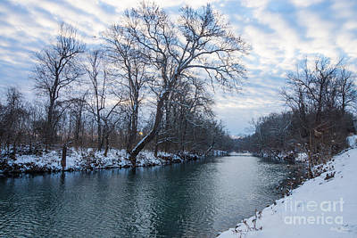 Photograph - James River Winter by Jennifer White