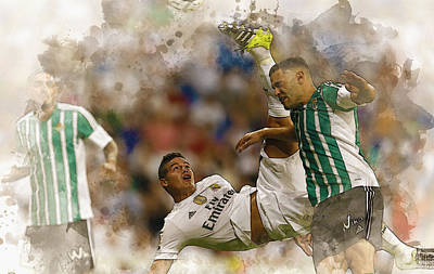 Cristiano Ronaldo Digital Art - James Rodriguez Performs An Overhead Kick  by Don Kuing