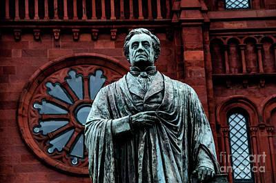 James Smithson Statue And Smithsonian Institute - Washington Dc Art Print
