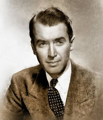 Television Painting - James Stewart Hollywood Icon By John Springfield by John Springfield