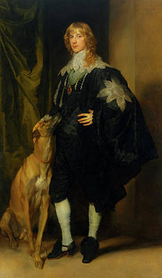 Great Dane Oil Painting - James Stuart - Duke Of Richmond And Lennox                       by Anthony Van Dyck