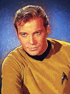 James T. Kirk Art Print by Taylan Apukovska