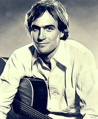 Music Royalty-Free and Rights-Managed Images - James Taylor, Music Legend by John Springfield