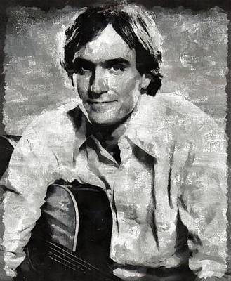 Musicians Royalty Free Images - James Taylor Musician Royalty-Free Image by Esoterica Art Agency
