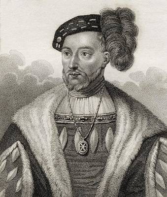 James V King Of Scotland 1512 - 1542 Print by Vintage Design Pics