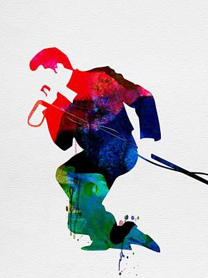 Concert Digital Art - James Watercolor by Naxart Studio