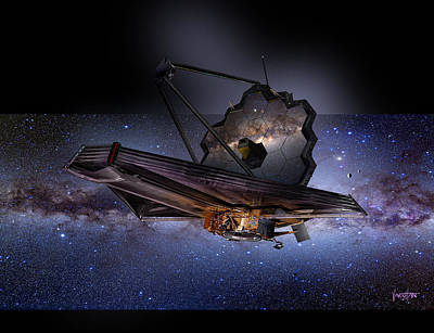 Digital Art - James Webb Space Telescope by James Vaughan