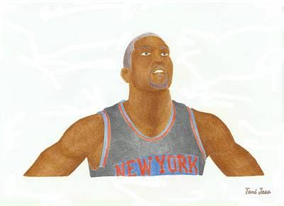 Knicks Drawing - James White by Toni Jaso