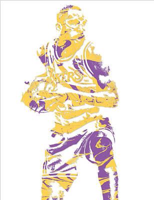 Free Mixed Media - James Worthy Los Angeles Lakers Pixel Art 5 by Joe Hamilton
