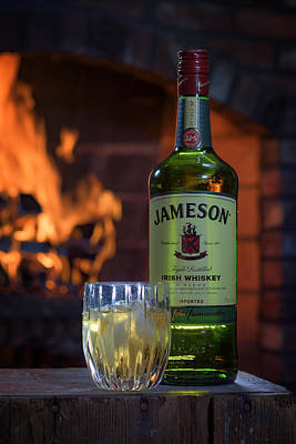 Jameson By The Fire Art Print by Rick Berk