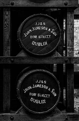 Photograph - Jameson Distillery Whiskey Barrels by Georgia Fowler