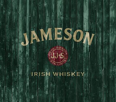 Food And Beverage Mixed Media - Jameson Irish Whiskey Barn Door by Dan Sproul