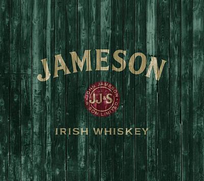 Food And Beverage Mixed Media - Jameson Irish Whiskey Barn Door by Dan Sproul