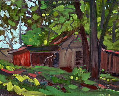 Painting - James's Barn by Donald Maier