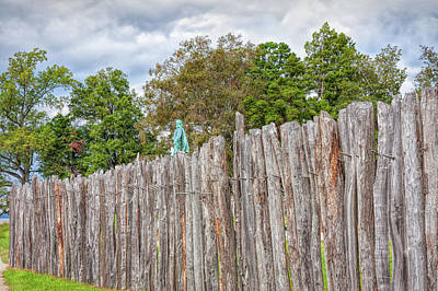 Photograph - Jamestown Fort by John M Bailey