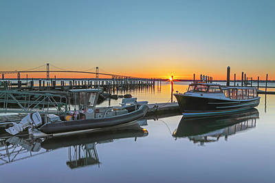 Landmarks Photograph - Jamestown Newport Ferry At Conanicut Marina by Juergen Roth