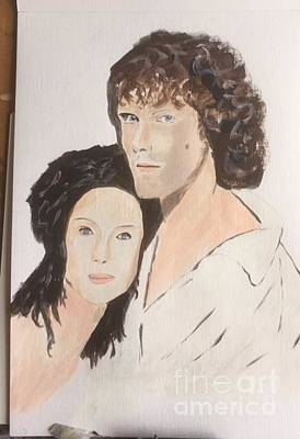 Painting - Jamie And Claire by Audrey Pollitt