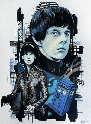 Dr Who Painting - Jamie And Zoe by Tom Carlton