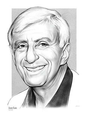 Drawing - Jamie Farr 2 by Greg Joens