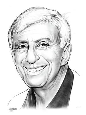 Drawing - Jamie Farr by Greg Joens