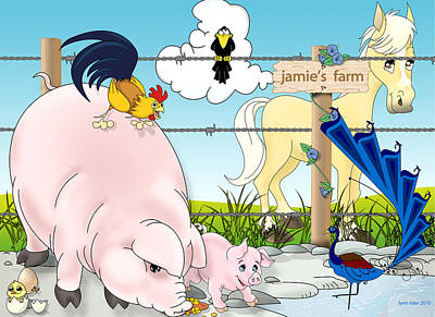 Art Print featuring the painting Jamie's Farm by Lynn Rider