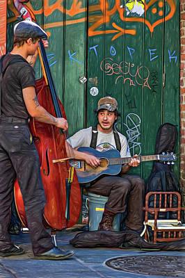 Streetscape Digital Art - Jammin' In The French Quarter 2 - Paint by Steve Harrington