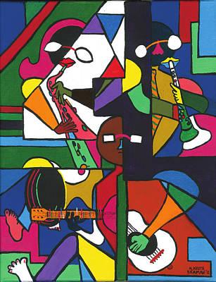 Etc. Painting - Jammin' by Keith Braman