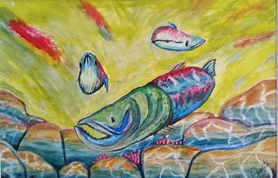 Painting - Jammin Salmon  by Carol Duarte