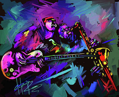 Art Print featuring the painting Jammin' The Funk by DC Langer