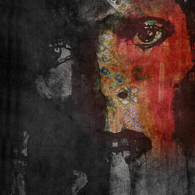 Mixed-media Painting - Jamming Good With Wierd And Gilly by Paul Lovering