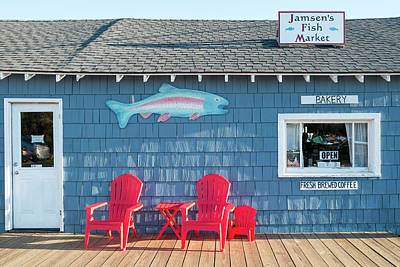 Photograph - Jamsen's Fish Market Copper Harbor Michigan by Mary Lee Dereske