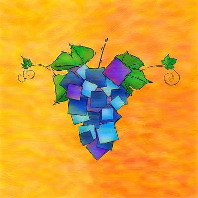 Purple Grapes Digital Art - Jamurissa - Square Grapes by Cersatti