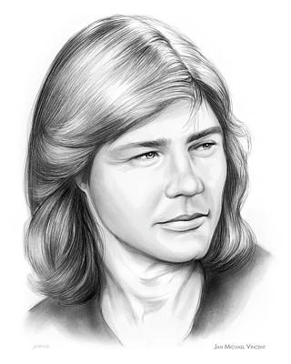 Drawing - Jan Michael Vincent 13feb18 by Greg Joens