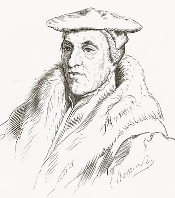 Jan.15th Drawing - Jan Van Scorel, 1495 by Vintage Design Pics