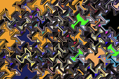 Digital Art - Janca Abstract Panel #5247e7si by Tom Janca