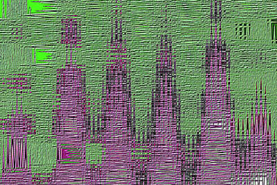 Digital Art - Janca Green And Purple Abstract #5272-2 by Tom Janca