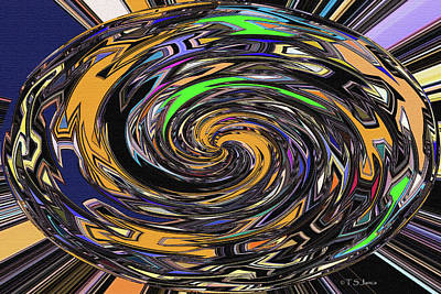 Digital Art - Janca Oval Abstract Panel #5247e8 by Tom Janca