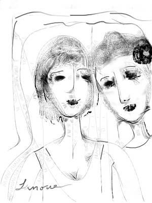 Jane And June Art Print