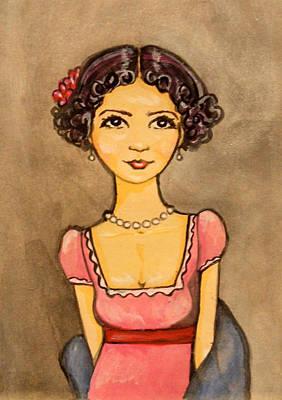 Jane Austen Art Print by Ramey Guerra