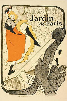 Lithograph Digital Art - Jane Avril At The Jardin De Paris Vintage Poster by BONB Creative